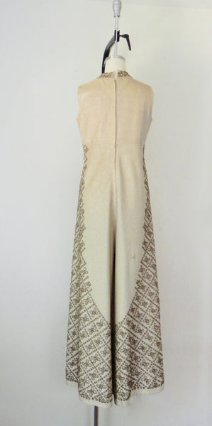 Vintage 1940s-1950s Gold Metallic Sequin Jumpsuit AS IS - Vintage World Rocks - 10