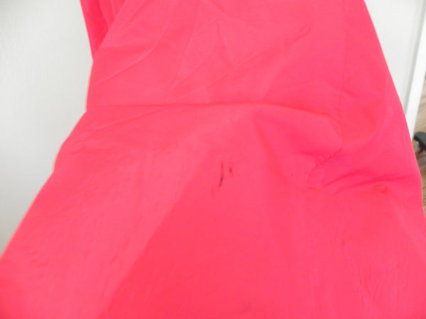 Red Silky Taffeta Empire Full Sweep Couture Gown - Vintage World Rocks - 6
