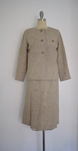 Vintage 1960s Christian Dior for Saks Fifth Avenue Wool Suit