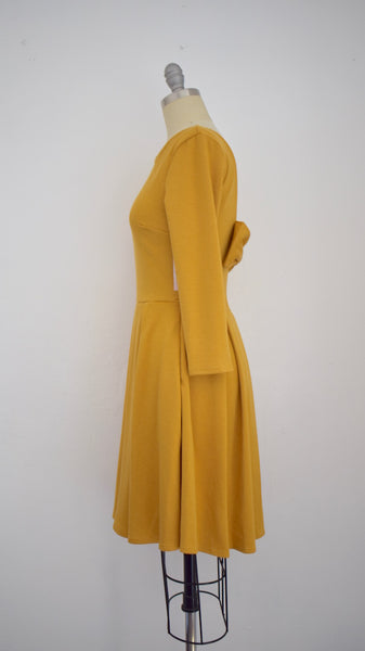 Apricity Vintage Inspired Golden Mustard Dress