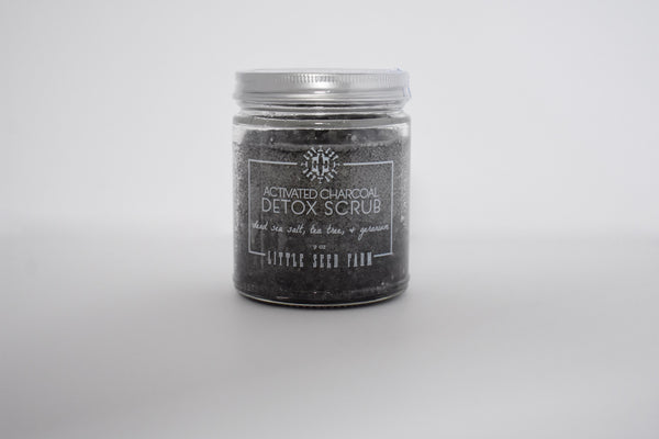 Little Seed Farm Activated Charcoal Detox Salt Scrub