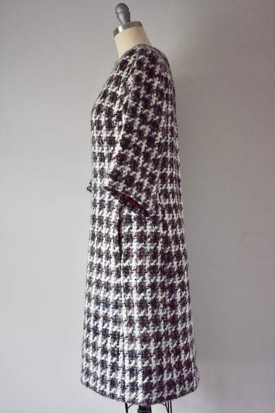 Vintage 1960s Wool Shift Dress