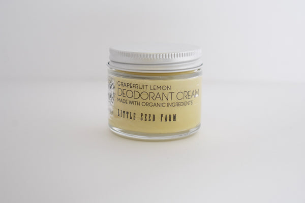 Little Seed Farm 100% Natural and Organic Deodorant Cream (Grapefruit Lemon Scent)