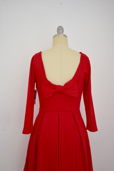 Apricity Vintage Inspired True Poppy Red Dress