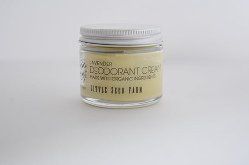 Little Seed Farm 100% Natural and Organic Deodorant Cream (Lavender Scent)