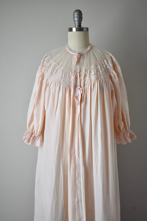 Vintage 1930s Silk and Tulle Dressing Gown