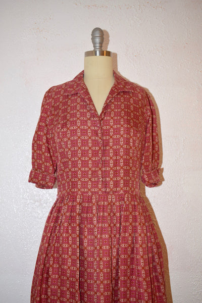 Modern Ann Taylor Vintage Inspired Shirt Dress - Vintage World Rocks - 7