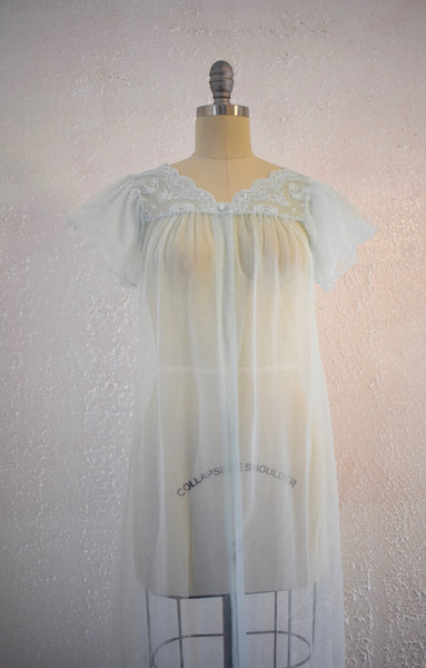 Vintage 1960s Gilead Baby Blue Nightgown Top - Vintage World Rocks - 2
