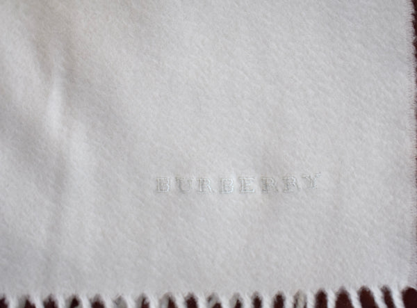 MensWear Burberry Made in England 100% Cashmere Mint Whisper Flannel Scarf