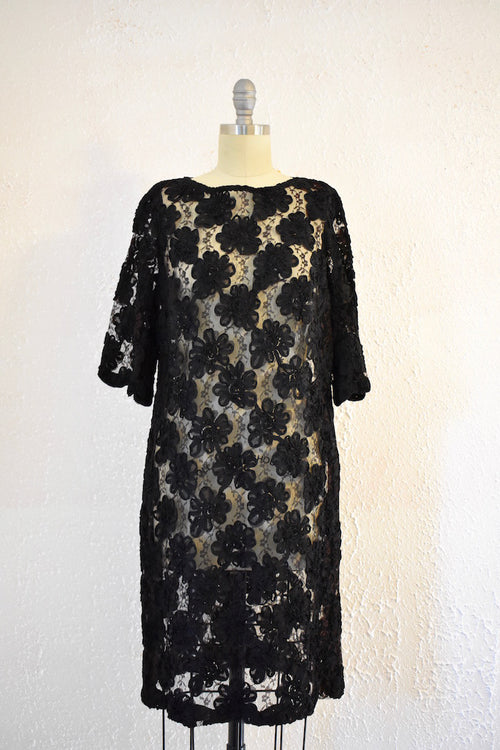 Vintage 1960s Lace Shift Dress - Vintage World Rocks - 2