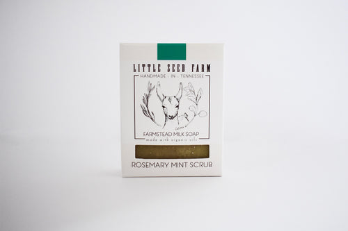 Little Seed Farm 100% Natural and Organic Rosemary Mint Scrub Bar
