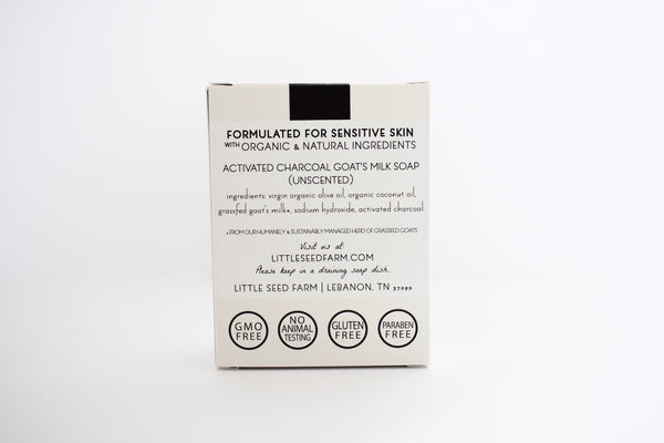 Little Seed Farm 100% Natural and Organic Activated Charcoal Bar Soap
