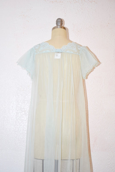 Vintage 1960s Gilead Baby Blue Nightgown Top - Vintage World Rocks - 6