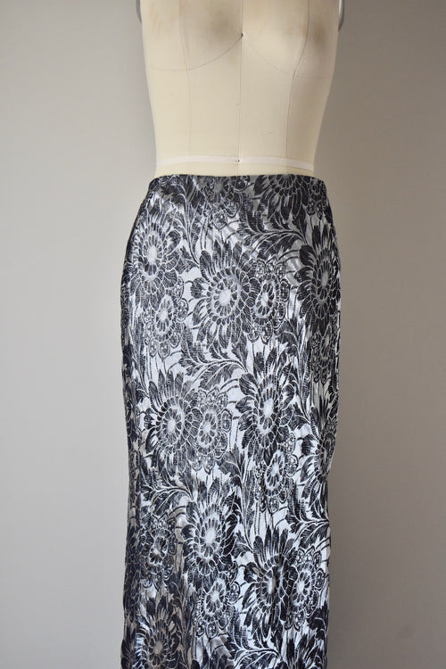 Christian Dior Skirt US 10 Metallic Silver Grey