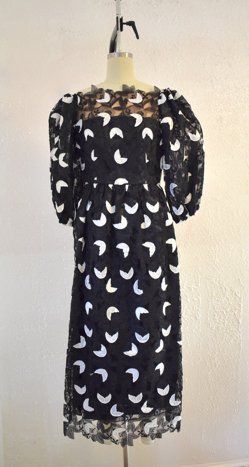 Vintage 1980s Richilene Black Gown