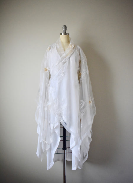 Vintage Sheer Embroderied Dress