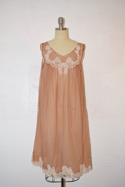 Vintage 1960 Kayser Toupe /Tan Lingerie NightGown - Vintage World Rocks - 2