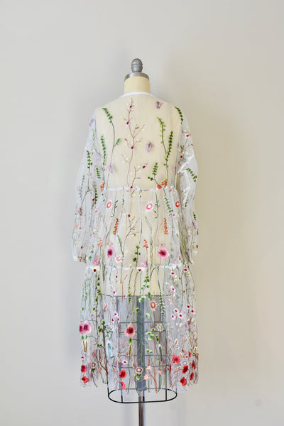 Embroidered Tulle Dress- Medium