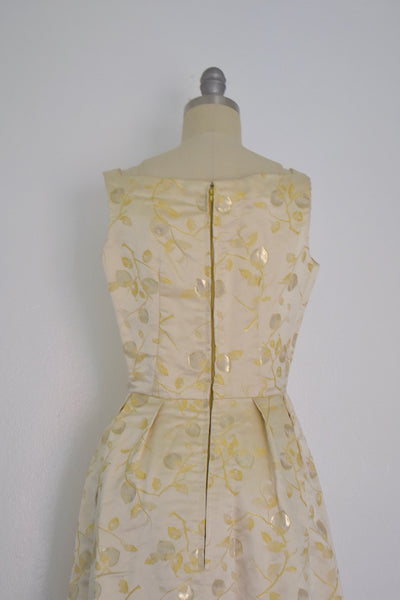 Vintage 1960s Designer Vogue Paris Nina Ricci Formal Dress