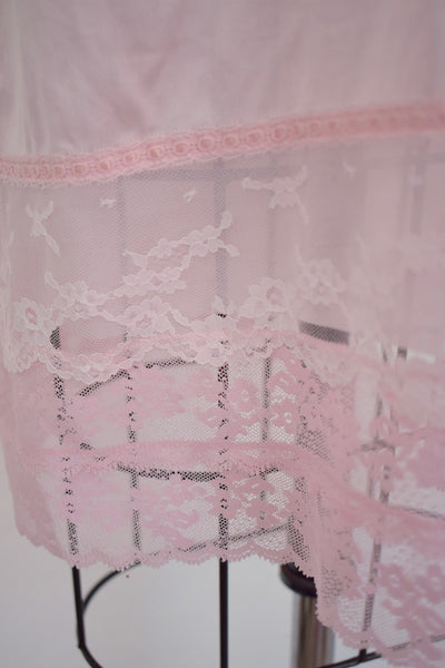 Vintage 1960s Pink Keyser Lace Nightgown