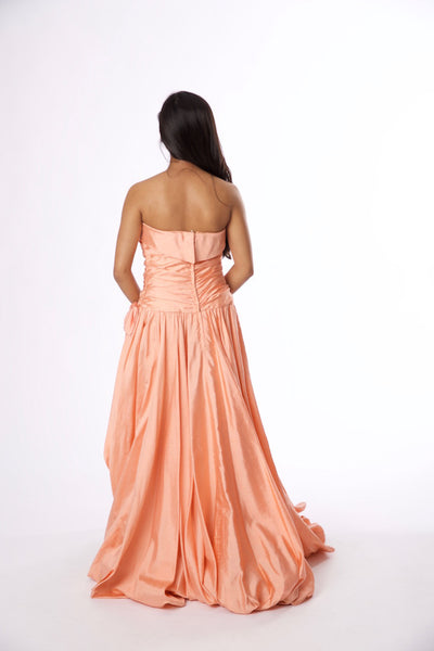 Vintage Tracy Mills Peach Strapless Dress - Vintage World Rocks - 5