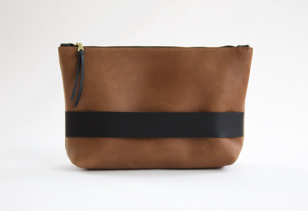 The Carolee Clutch Cocoa Original Leather Handmade by Neva Opet