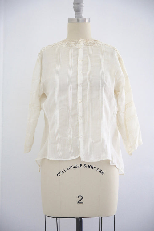 Edwardian Lace Antique Mother of Pearl Blouse
