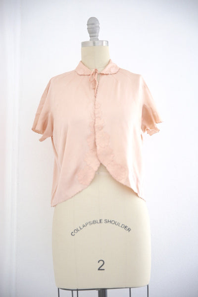 Vintage 1950s Silk Pink Lingerie Top - Vintage World Rocks - 2