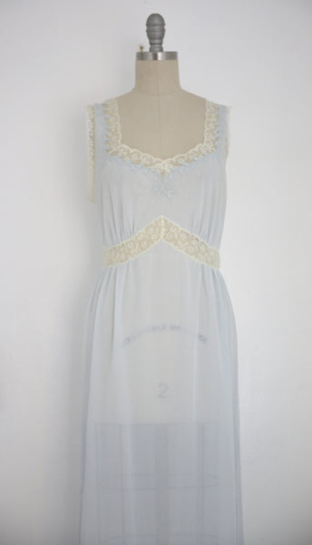 Vintage 1950s Baby Blue Nightgown - Vintage World Rocks - 2