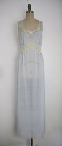 Vintage 1950s Baby Blue Nightgown - Vintage World Rocks - 3
