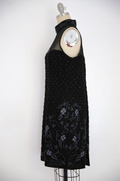 Vintage 1980s Stenay Silk Black Beaded Dress - Vintage World Rocks - 3