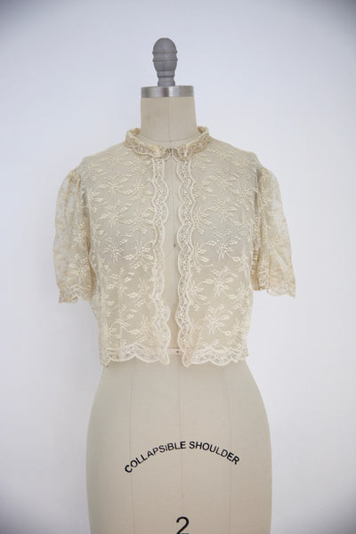 Vintage Edwardian Antique White Lace Blouse - Vintage World Rocks - 3