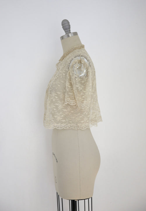 Vintage Edwardian Antique White Lace Blouse - Vintage World Rocks - 2