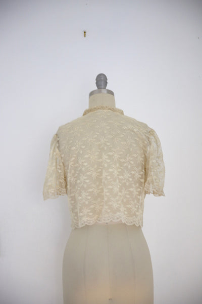 Vintage Edwardian Antique White Lace Blouse - Vintage World Rocks - 4