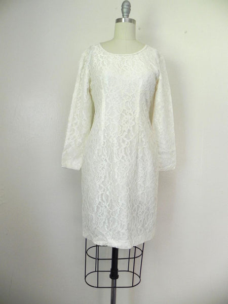 Vintage 1960s White Lace Dress - Vintage World Rocks - 3