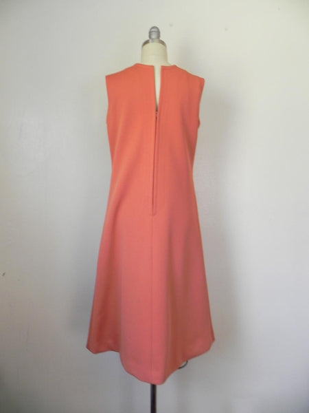 Vintage 1950s-1960s Peach/Salmon Dress and Jacket Suit - Vintage World Rocks - 4