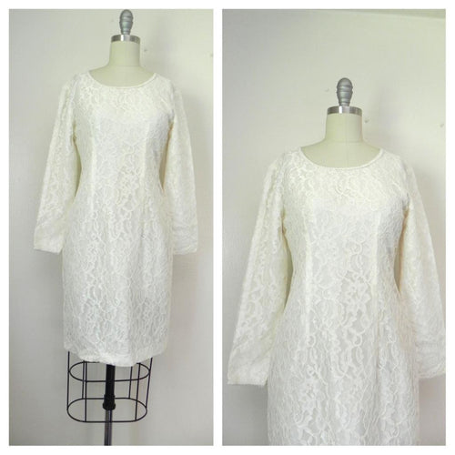 Vintage 1960s White Lace Dress - Vintage World Rocks - 1