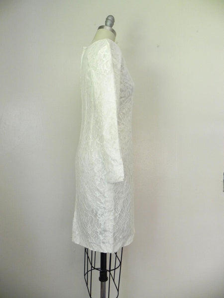 Vintage 1960s White Lace Dress - Vintage World Rocks - 5