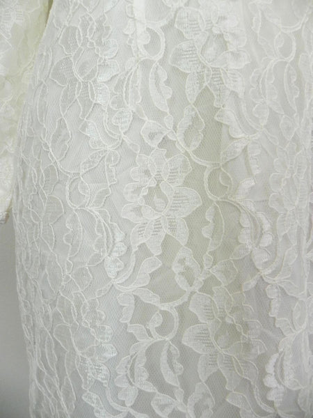 Vintage 1960s White Lace Dress - Vintage World Rocks - 4