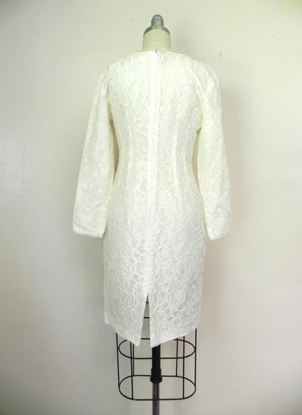 Vintage 1960s White Lace Dress - Vintage World Rocks - 6