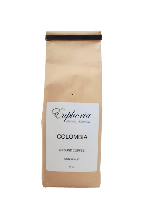 Euphoria by VWR Colombia La Meseta Ground Dark Roast Coffee Locally Roasted 12 oz