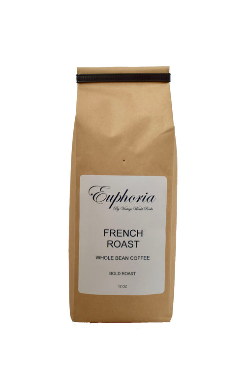 Euphoria by VWR French Roast Whole Bean Bold Roast Coffee Locally Roasted 12 oz