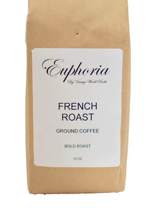 Euphoria by VWR French Roast Ground Bold Roast Coffee Locally Roasted 12 oz