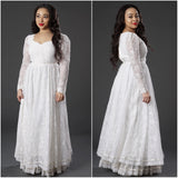 Vintage 1960s Gunne Sax White Lace Wedding Party Maxi Dress - Vintage World Rocks - 1