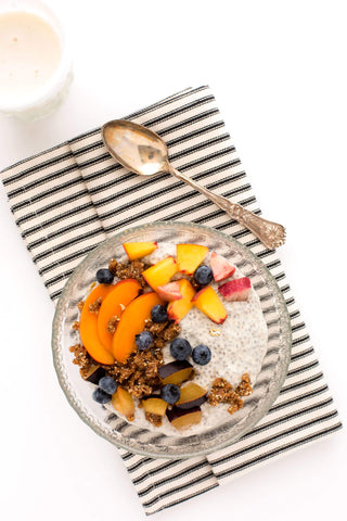 Picture of chia pudding topped with fresh fruit