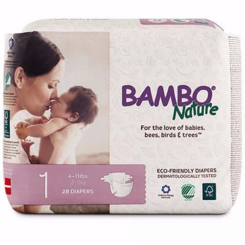 BAMBO Nature Baby Diapers - Newborn Size 1 (2 - 5 kg)