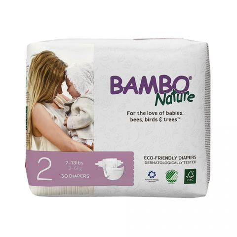 BAMBO Nature Baby Diapers - Mini Size 2 (3 - 6 kg)