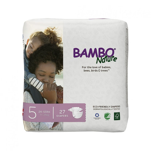 BAMBO Nature Baby Diapers - Junior Size 5 (11 - 25 kg)