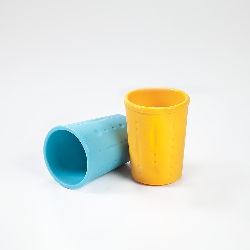 Kinderville Little Bites Cups (Set of 2) in Blue/Orange
