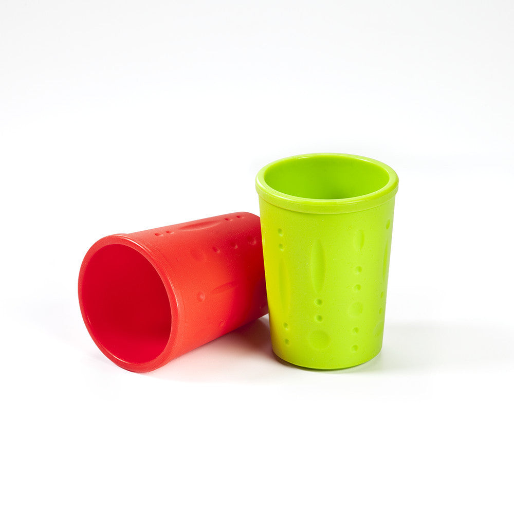 Kinderville Little Bites Cups (Set of 2) in Red/Green